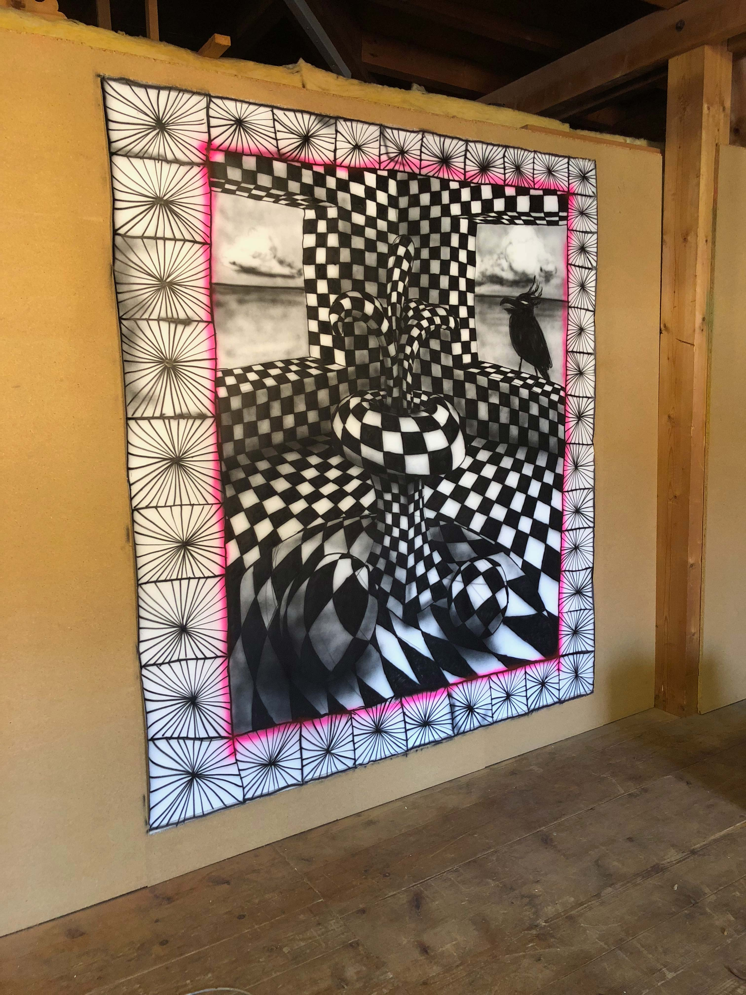 Stefan Inauen #morningglory 2018 Lack auf Leinwand 215cm x 190cm