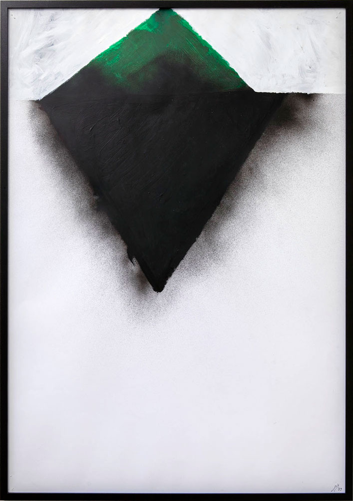 Stefan Inauen o.T. 2009 Acryl auf Papier H 100cm, B 70cm