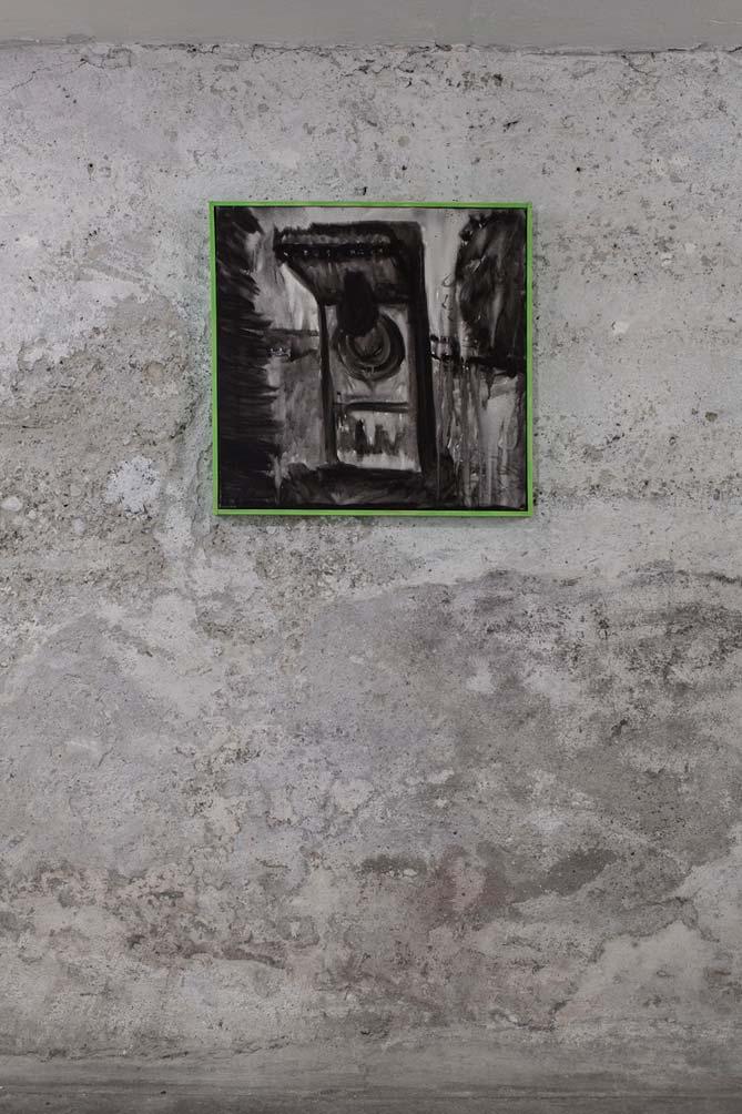 Stefan Inauen O.T. 2008 Acryl auf Leinwand, B 62cm, H 62cm gerahmt