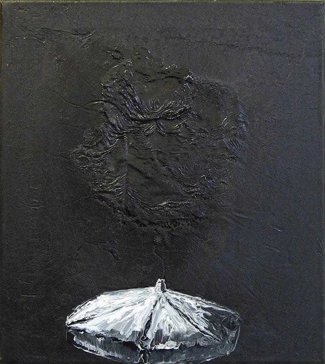 endless summer,2003,bitumen auf baumwolle,45cmx55cm